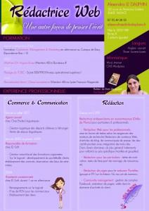 CV Drôle de Plume, rédactrice web freelance à Bordeaux