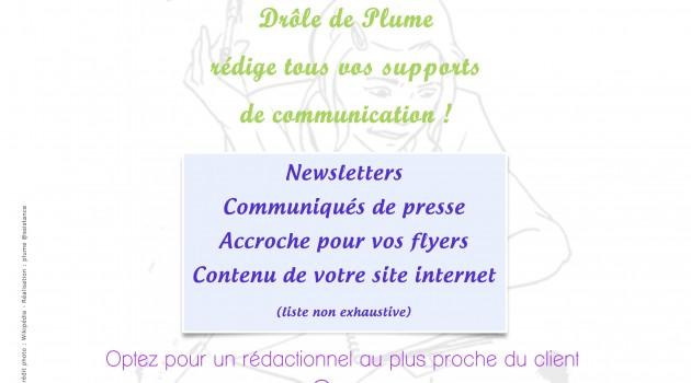 Operation communication, communiquer, Drole de Plume redige votre communication
