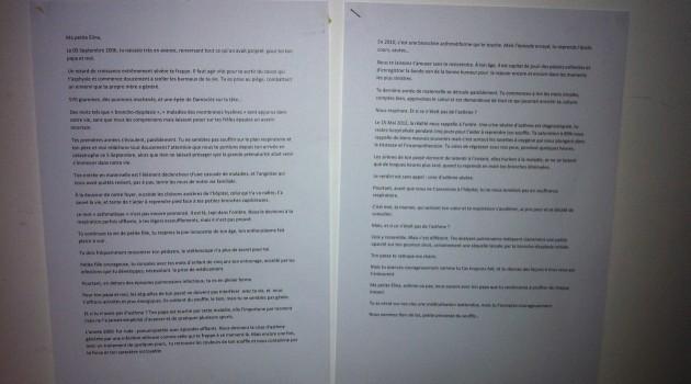 Redaction d'un texte personnel primé lors d'un concours