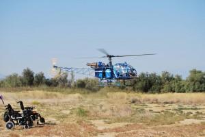 Hélicoptère pour les malades du syndrome Ehlers-Danlos