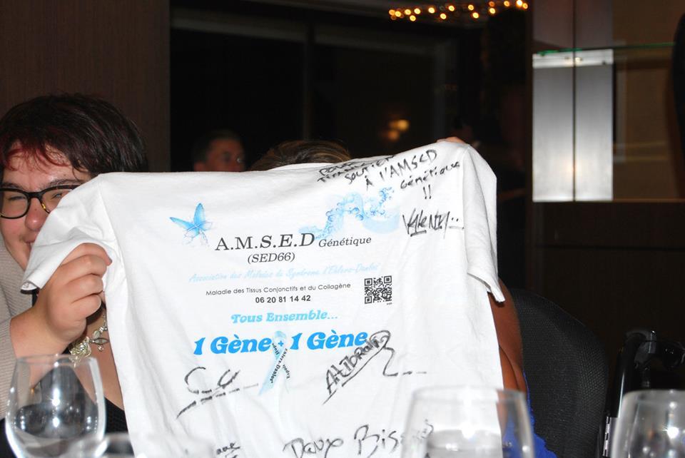 Tee shirt AMSED dédicacé