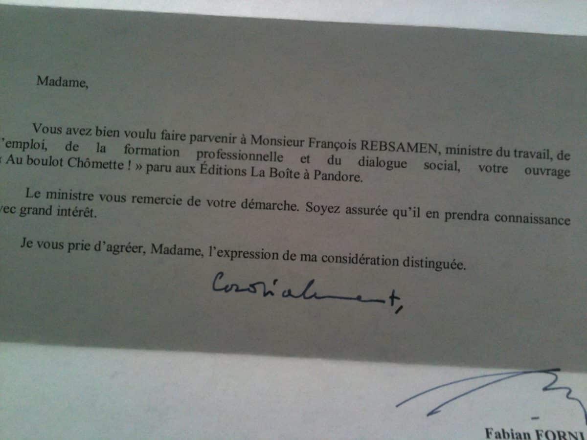 réponse françois Rebsamen